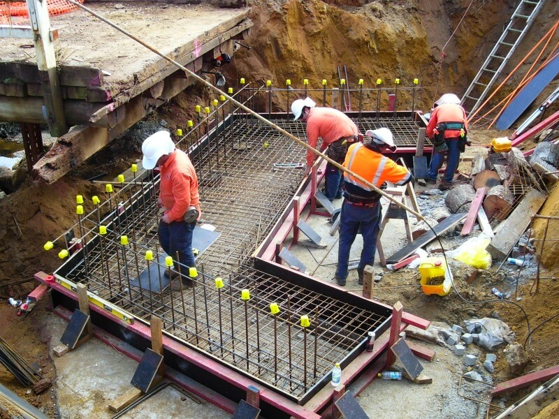 WML structural engineering consultants on site laying the foundations for the new upgrade to the bridge.
