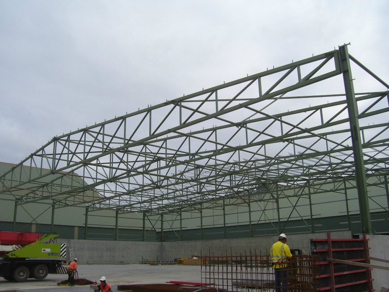 Framing of storage facility being constructed by WMLs Bunbury structural engineering consultants team.