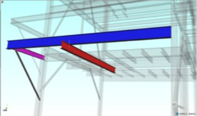 CGI design rendering of Proposed Monorail Crane Structural Elements created by WMLs structural engineering consultants